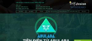 Mẫu website tiền điện tử