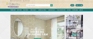 Mẫu website sản phẩm đá hoa cương