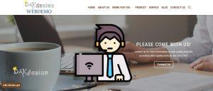 Mẫu website coffe ngôn ngữ quốc tế