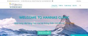Mẫu website sản phẩm chăm sóc sắc đẹp