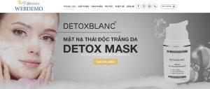 Mẫu website sản phẩm dưỡng da