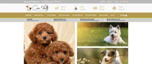 Dự án website thú cưng màu vàng xám sang trọng